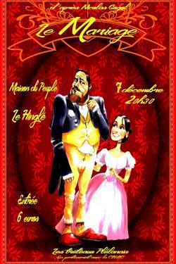 Affiche le mariage nicolas gogol1