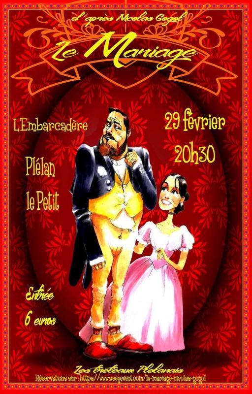 Affiche mariage plelan